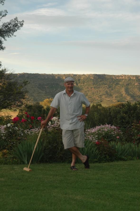 Quentin directing croquet proceedings.