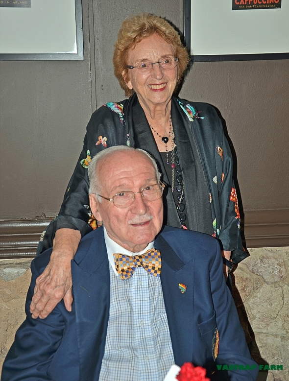 Oupa Koos in his signature bow tie with his love, ouma Hannatjie.