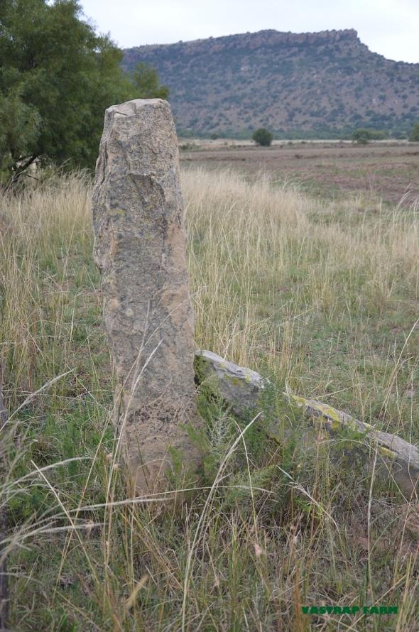 Sandstone fence post.