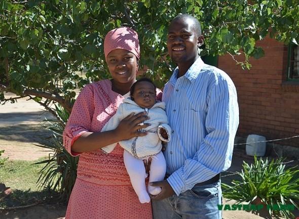 Tseliso, Elizabeth and MaTseliso (3 months old).